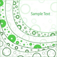 Free Abstract Background With Green Circles Royalty Free Stock Photography - 18297977