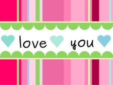 Free Card Love Royalty Free Stock Photography - 18298327