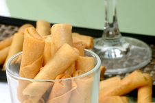 Chinese Spring Rolls Royalty Free Stock Photo