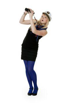 Free Girl With Binoculars Stock Photography - 18298992