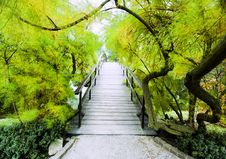 Japanese Bridge Royalty Free Stock Photography