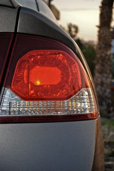 Free Car Tail Lights Royalty Free Stock Image - 18299476