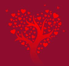 Free Stylized Love Tree Stock Photo - 18299620