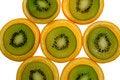 Free Orange And Kiwi Slices Royalty Free Stock Images - 1831519