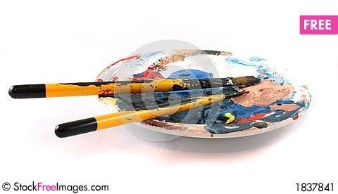 Free PaintBrushes On A White Background Stock Image - 1837841