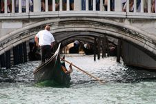 Free Gondolier Rowing Royalty Free Stock Photo - 1830155