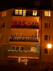 Free Night Balconies Royalty Free Stock Images - 1830589