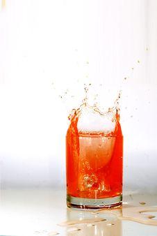Fruit Juice Splashing Stock Photos