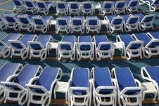 Empty Sun Loungers Royalty Free Stock Photo