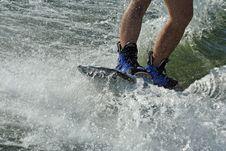 Wakeboard Splash Royalty Free Stock Image