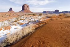 Free Monument Valley In Winter Stock Photography - 1831622