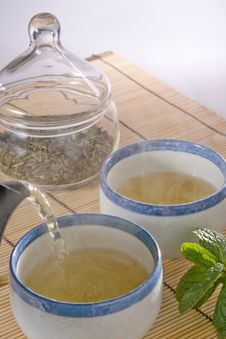Free Serving Green Tea Royalty Free Stock Image - 1831846
