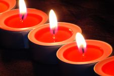Red Light Candle Stock Images