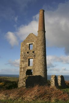 Carn Galver A Cornish Tin Mine Stock Images
