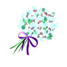 Free Pastel Flower Bouquet Art Stock Images - 1833724