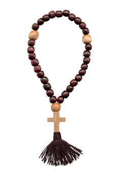 Free Cross From A Tree On A Rosary Royalty Free Stock Image - 1836476