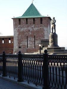 Kremlin & Chkalov Royalty Free Stock Photos