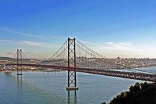 Free Lisbon Bridge Royalty Free Stock Photo - 1837295