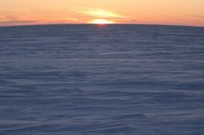 Free A Sunrise Is In The North Above Ice Royalty Free Stock Photography - 1837587