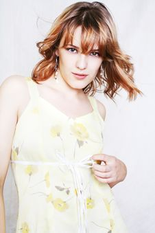 Free Young Beautiful Sexy Brunette Woman Stock Image - 1837771