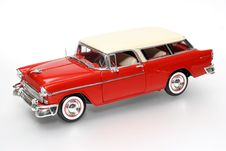 Chevrolet 1955 Metal Scale Toy Car 2 Royalty Free Stock Images