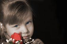 Free Valentine Girl Stock Image - 1838531
