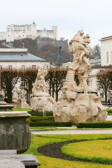 Free Statues In Mirabell Palace Stock Image - 1838701