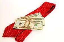 Free Red Necktie And Money-2 Stock Photos - 1839393