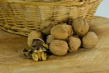 Free Walnut In Basket Stock Image - 1839741