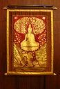 Free Golden Buddha Paint On Cloth Royalty Free Stock Image - 18300036