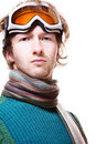 Free Snowboarder Portrait Isolated Over White Royalty Free Stock Photography - 18300467