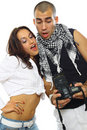 Free Young Couple Photographing Royalty Free Stock Photography - 18303777