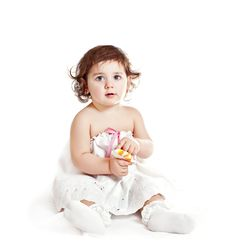 Free Baby Girl In A White Dress Royalty Free Stock Photo - 18300015