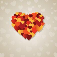 Valentine S  Heart.  Illustration Royalty Free Stock Photos