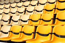 Free New Yellow Seat In Stadium Stock Photos - 18300333