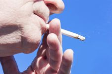 Free Smoking Closeup Stock Photos - 18300373