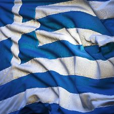 Free Flag Of Greece, Fluttering Stock Image - 18300421