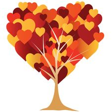 Free Valentine S,  Heart, Tree.  Illustration Stock Images - 18300454