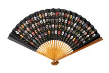 Free Chinese Paper Fan Decorated With Colourful Masks Stock Images - 18300644