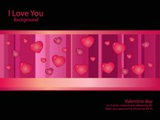 Free Background Black Pink Line Heart Royalty Free Stock Photos - 18300758