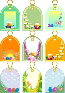 Easter Tags Stock Photo