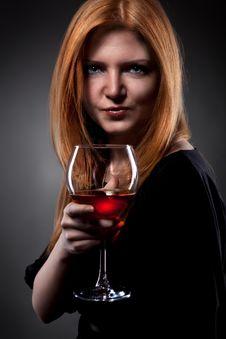 Free Woman Holding Wine Glass Royalty Free Stock Photo - 18300995