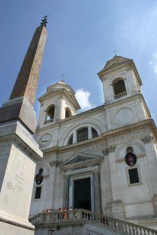 Free Trinità Dei Monti In Rome Royalty Free Stock Photo - 18301195