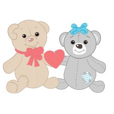 Free Cute Bears Couple. Stock Image - 18301361