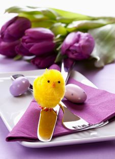 Free Easter Table Setting Stock Image - 18302331