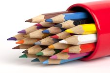 Free Color Pencils Royalty Free Stock Photo - 18302365