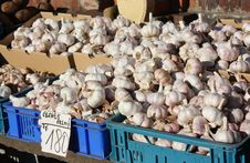 Free Garlic In A Little Market Stock Image - 18302511