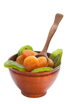 Dry Apricot And Kiwi Royalty Free Stock Photography