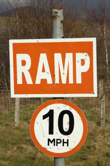 Free Ramp 10mph Signs. Stock Photos - 18303653