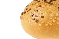 Free Bun, Topped With Sesame Seeds Royalty Free Stock Image - 18303756